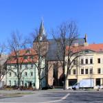 Markt in Delitzsch mit Stadtkirche