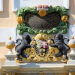 Herzogliches Wappen am Schloss Delitzsch