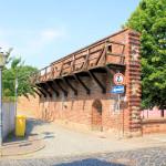 Rekonstruierter Wehgrang an der nördlichen Stadtmauer Delitzsch