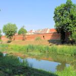 Wassergraben und Zwinger an der südlichen Stadtmauer in Delitzsch