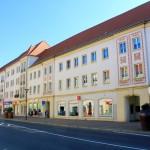 Eilenburg, Bebauung an der Leipziger Straße