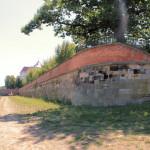 Festungsmauer an der Elbe in Torgau