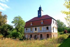 Leer stehend, aber gesichert, Altes Schloss Gaschwitz bei Markkleeberg