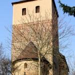 Görschen, Kirche St. Crucius, Turm und Apsis