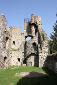 Burg Staufenberg, Palas der Oberburg