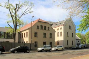 Ehem. Gohliser Mühle in Gohlis, Ansicht von der Platnerstraße