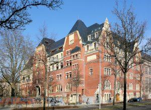 Deutsches Buchgewerbehaus Leipzig (BUGRA-Messehaus), Südansicht