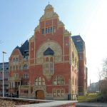 Deutsches Buchgewerbehaus Leipzig (BUGRA-Messehaus), Westansicht