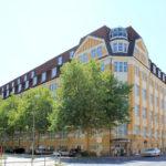 Ehem. Druckerei Schrader Reudnitz, Gewerbebau Täubchenweg / Heinrichstraße
