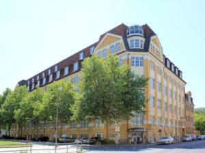 Ehem. Druckerei Reudnitz, Gewerbebau Täubchenweg / Heinrichstraße