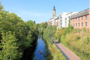 Der Karl-Heine-Kanal in Leipzig-Plagwitz
