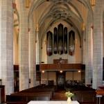 Borna, Ev. Stadtkirche, Schiff und Orgel