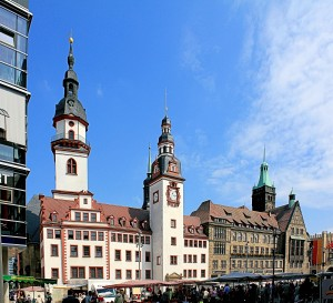 Chemnitz, Altes Rathaus mit Hohem Turm