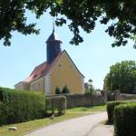 Dittmannsdorf, Ev. Pfarrkirche, Westansicht