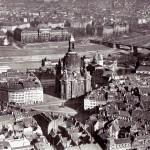 Neumarkt mit Frauenkirche, Luftaufnahme, 1926