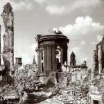 Ruine der Frauenkirche (Chor), nach 1945