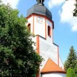 Falkenhain, Ev. Pfarrkirche, Turm und Apsis