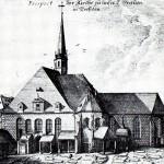 Vorgängerbau der Frauenkirche, Kupferstich um 1720