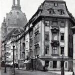Rampische Gasse mit Kuppel der Frauenkirche, vor 1945