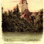 Kirche Großzschocher, um 1900