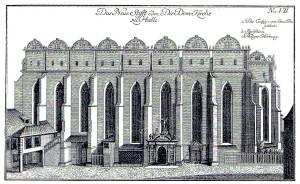 Der Dom zu Halle/Saale, 1750