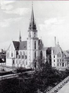 Ansicht der Kath. Probsteikirche St. Franziskus und St. Elisabeth 1896