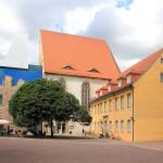 Halle/Saale, Schlosskapelle der Moritzburg, Hofseite