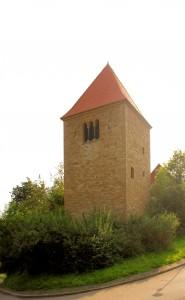 Hartmannsdorf, Glockenturm der Ev. Pfarrkirche
