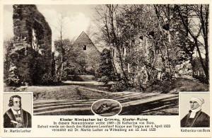 Kloster Nimbschen, Postkarte vor 1945