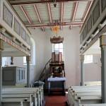 Kossa, Ev. Pfarrkirche, Altar und Kanzel