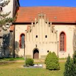 Krostitz, Ev. Pfarrkirche, gotischer Giebel