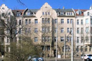 Pfarramt und Gemeindekirchhaus am Nordplatz Leipzig