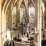 Stadtkirche Mittweida, Altar, Postkarte um 1960