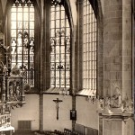 Stadtkirche Mittweida, Chor, Postkarte um 1960