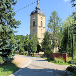 Niederstriegis, Ev. Pfarrkirche, Turm