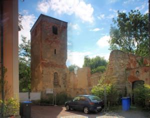 Ev. Kirche Oberthau (Zustand Juli 2015)