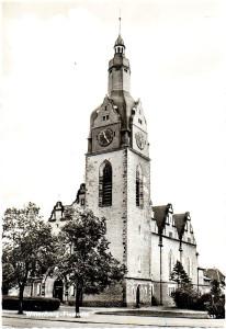Ev. Christuskirche Piesteritz, Postkarte um 1960