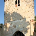 Pobles, Ev. Kirche, Turm (Zustand 2011)