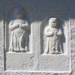 Weidenhain, Ev. Pfarrkirche, Kindergrabsteine