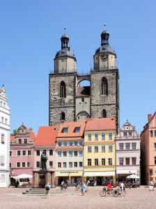 Wittenberg, Ev. Stadtpfarrkirche St. Marien und Marktplatz