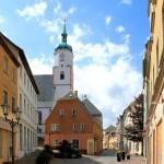 Wurzen, Ev. Wenceslaikirche, Altstadt und Turm von Norden