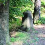 Alter Grenzstein zwische Sachsen und Preußen in der Dahlener Heide