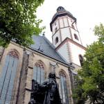Leipzig, Thomaskirche, Bachdenkmal