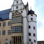 Leitzkau, Schloss Neuhaus, Erker und Treppenturm