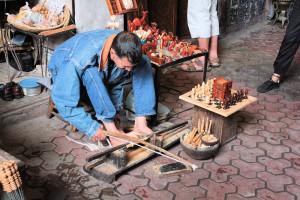 Handwerker in der Altstadt von Marrakesch