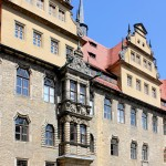 Schloss Merseburg, Erker im Schlosshof