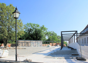 Ilburg in Eilenburg, neu gestalteter Hof am Gefängnis