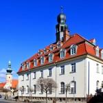 Rathaus und Stadtkirche in Trebsen