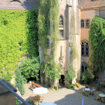 Hof des Schlosses Püchau