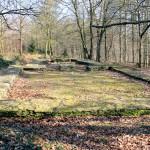 Die Fundamente der Kirche in der Wüstung Nennewitz
